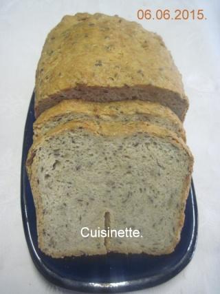 Pain aux céréales en machine à pain.photos. Img_7357