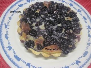 Tartelettes aux myrtilles à la crème.photos. Img_8074