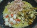 Boulgour aux crustacés.saumon rose.safranés.photos. 11059610