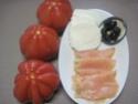 Hamburger de tomate.saumon et mozzarella.photos. Img_7160