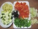 Émincé de poulet de légumes tricolores.photos. Img_7394