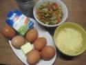 Omelettes composées de légumes.œufs.râpé.photos. Img_7541