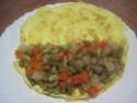 Omelettes composées de légumes.œufs.râpé.photos. Img_7547