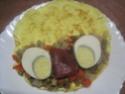 Omelettes composées de légumes.œufs.râpé.photos. Img_7548