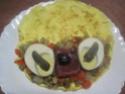 Omelettes composées de légumes.œufs.râpé.photos. Img_7549