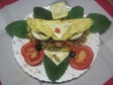 Omelettes composées de légumes.œufs.râpé.photos. Img_7551