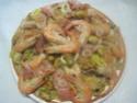 Boulgour aux crustacés.saumon rose.safranés.photos. Img_7563