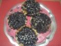 Tartelettes aux myrtilles à la crème.photos. Img_8086