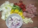 Légumes variés aux cubes de poulet.photos. Img_8237