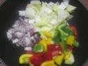 Légumes variés aux cubes de poulet.photos. Img_8239