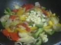 Légumes variés aux cubes de poulet.photos. Img_8241