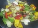 Légumes variés aux cubes de poulet.photos. Img_8242