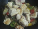 Légumes variés aux cubes de poulet.photos. Img_8243
