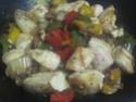 Légumes variés aux cubes de poulet.photos. Img_8244