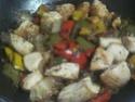 Légumes variés aux cubes de poulet.photos. Img_8245