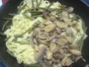 Tagliatelle aux trio de légumes. Img_8418