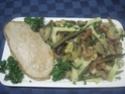 Tagliatelle aux trio de légumes. Img_8423