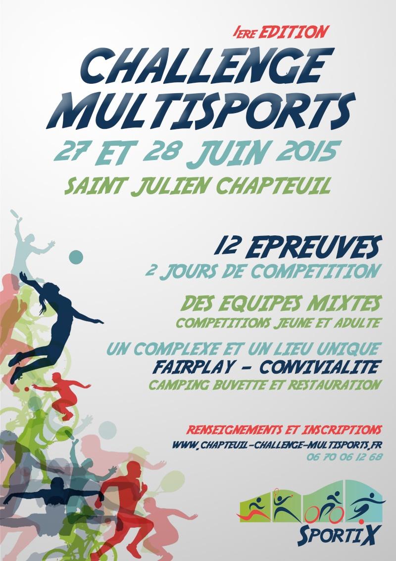 Challenge multisports - 27 et 28 Juin à St Julien Chapteuil. Affich10