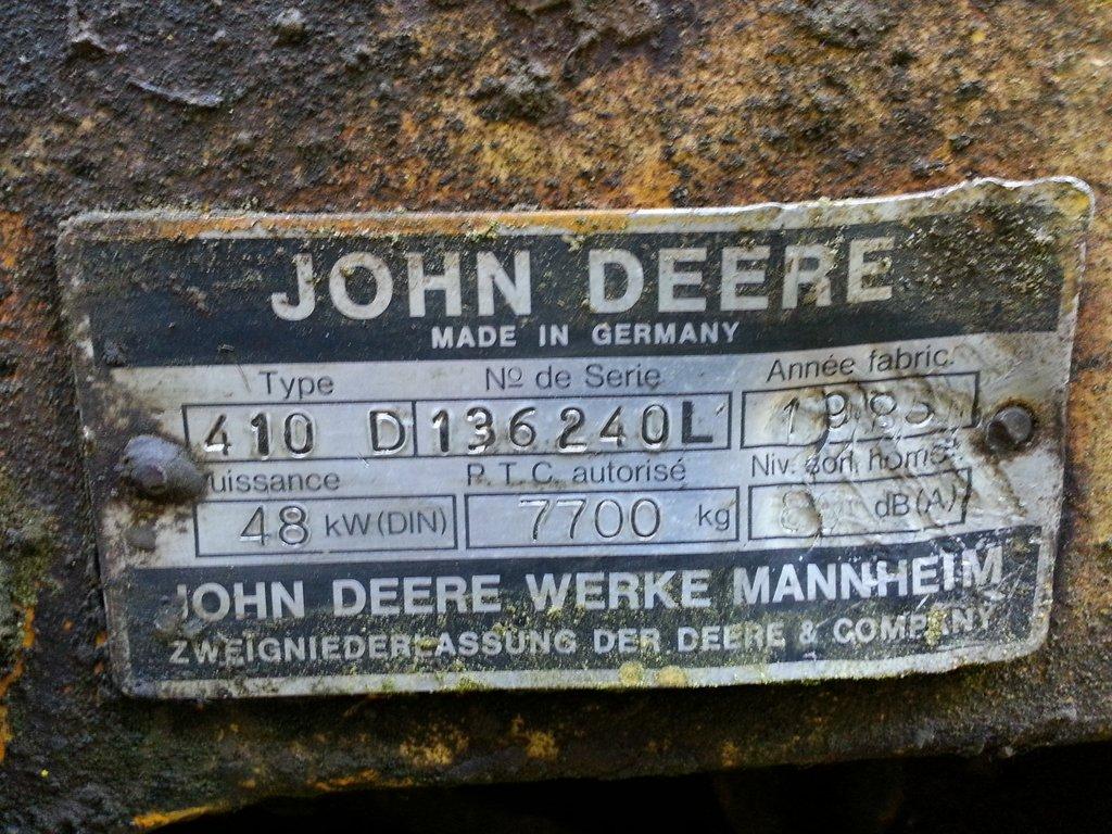 Restauration Tractopelle John Deere JD410 810