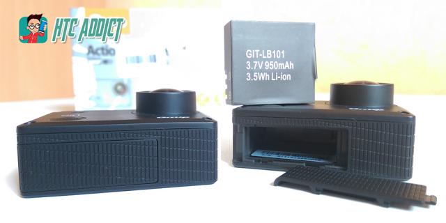 [TEST] Test de la GitUp Git1, une action cam complète à moins de 100 euros Batter10
