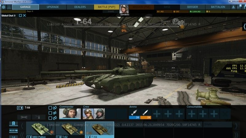 armored warfare clée d'acces anticipé ! Garage10
