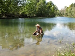 segre - NOVA sortida dissabte 19-09-15 a la cerca d'or amb àbac al riu Segre, Balaguer (Lleida). Anunc210