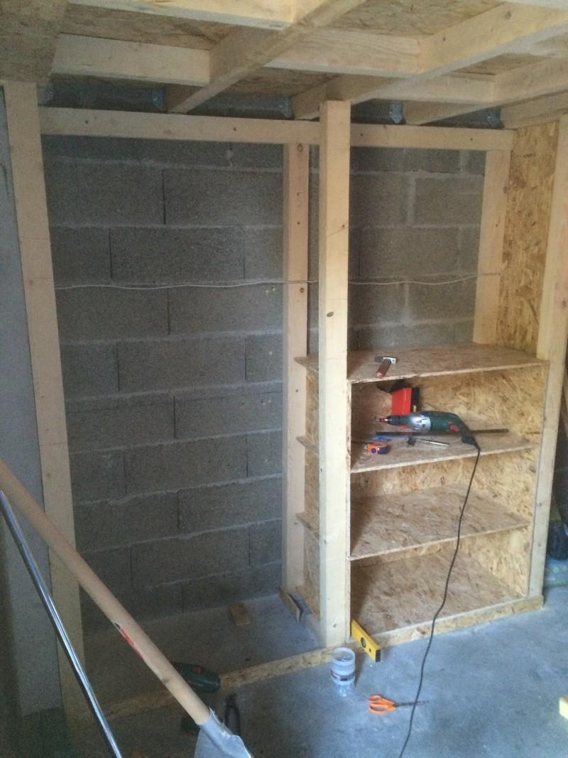 Etage dans garage - solivage Img_0210