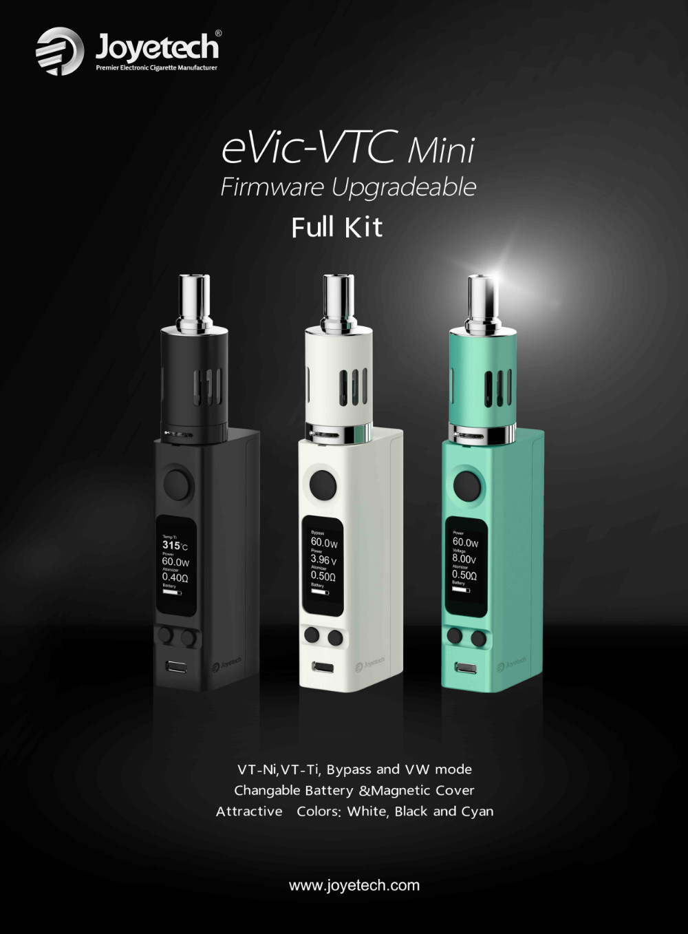 Coming soon : Joyetech eVic VTC Mini 60W Evic-v11