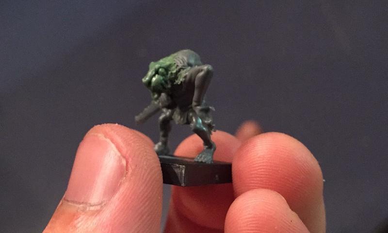Skaven - The Hobbit goblins into Skaven slaves Img_4010