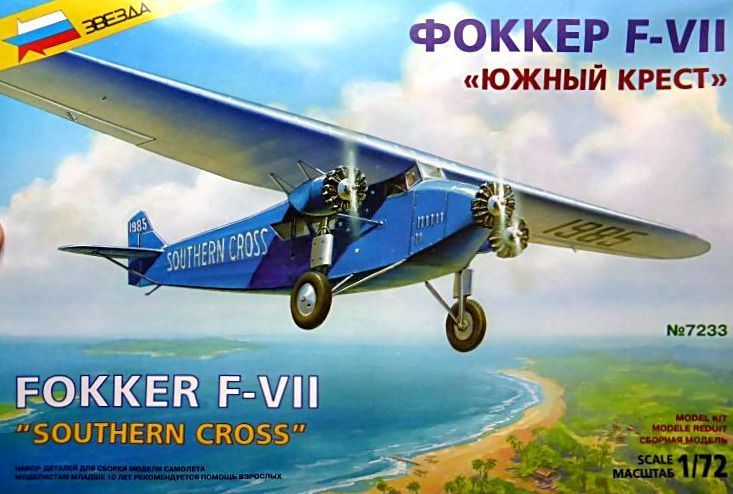 "[Zvesda] - Fokker F-VII ""SOUTHERN CROSS"" 1928 Vol Trans-Pacifique vers l'Australie F-vii-10"