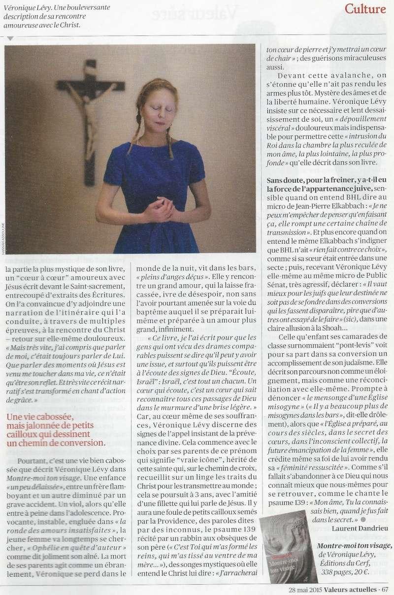 La très touchante conversion de Véronique Lévy au Catholicisme - Page 2 Valeur11