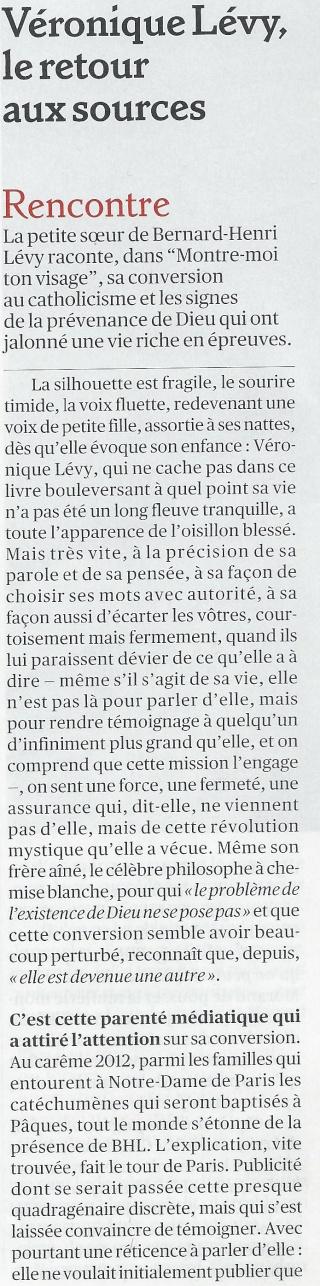La très touchante conversion de Véronique Lévy au Catholicisme - Page 2 Valeur13