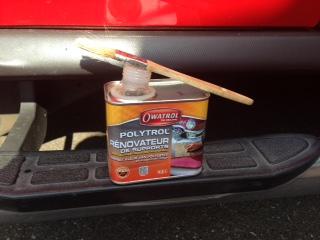 Petite rénovation peinture sur les parties plastiques de mon H3 , j'ai testé , ça marche ! Img_1212