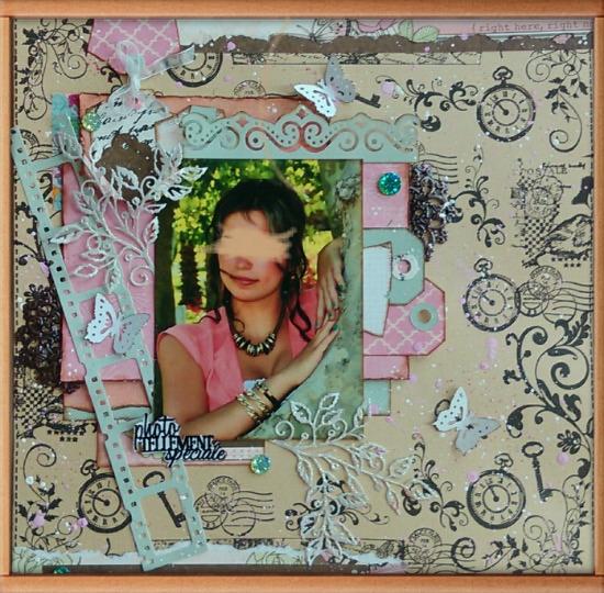 une magnifique page en atelier avec Val Imag6016