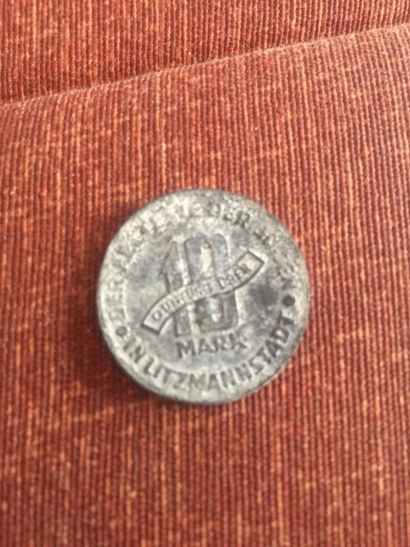 Pièce monnaie 10 mark - ghetto de Lodz - 1943 _57_110