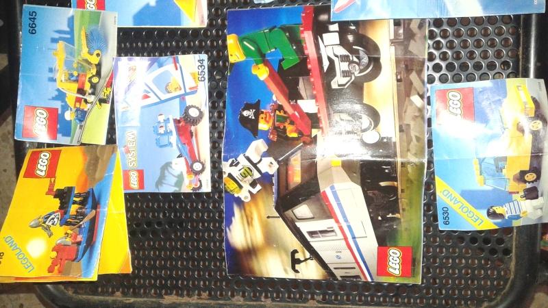 lotto istruzioni e cataloghi  LEGO anni 80-90 20150811