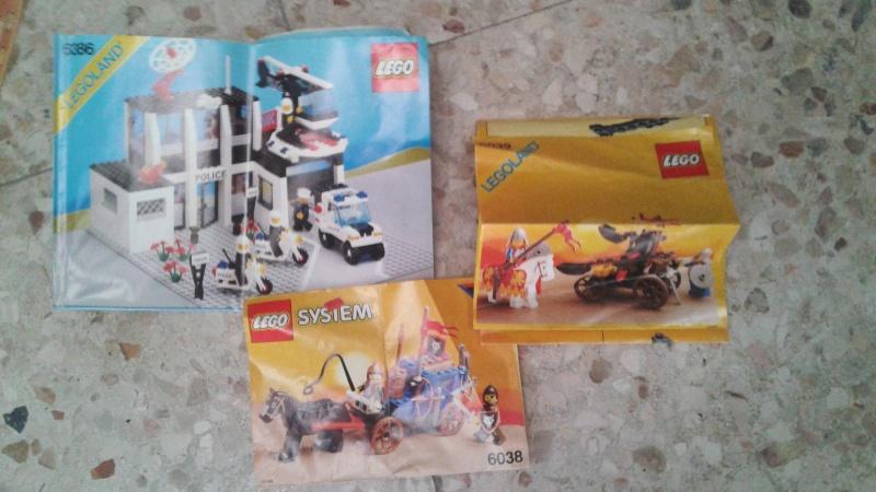 lotto istruzioni e cataloghi  LEGO anni 80-90 20150813
