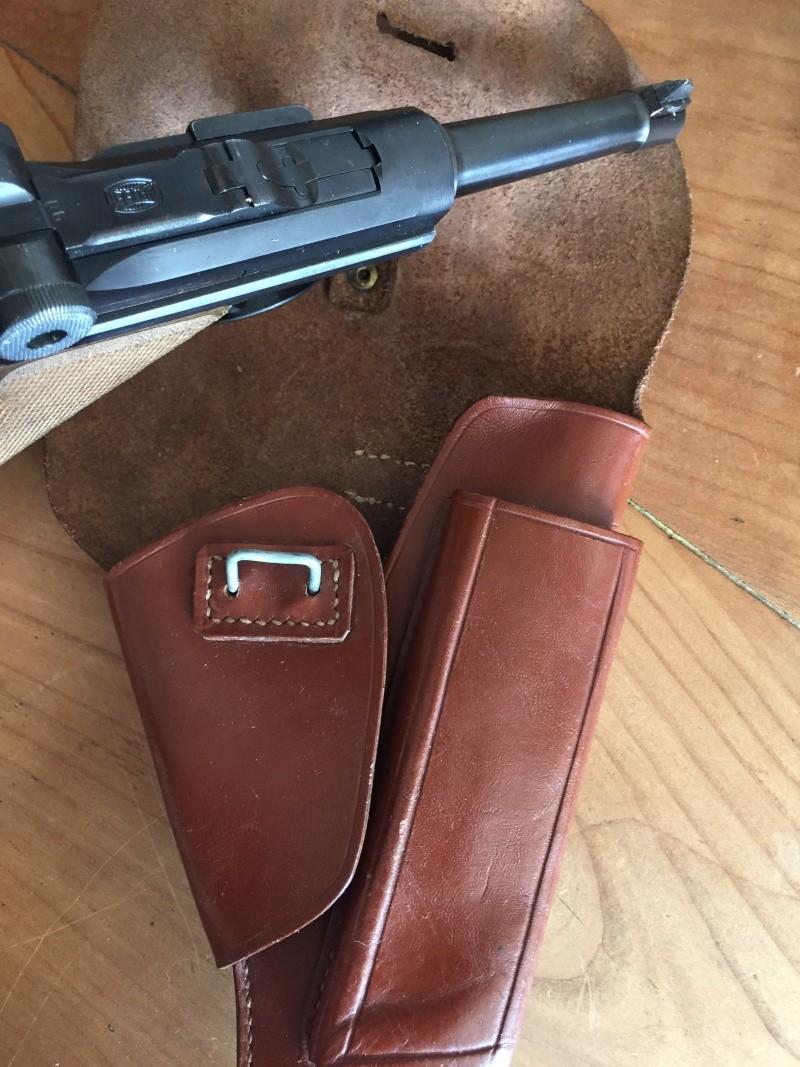 Luger P08 français, accessoires et ses munitions 01411