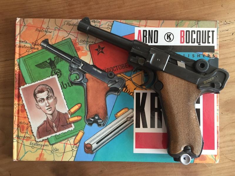 Luger P08 français, accessoires et ses munitions 02112