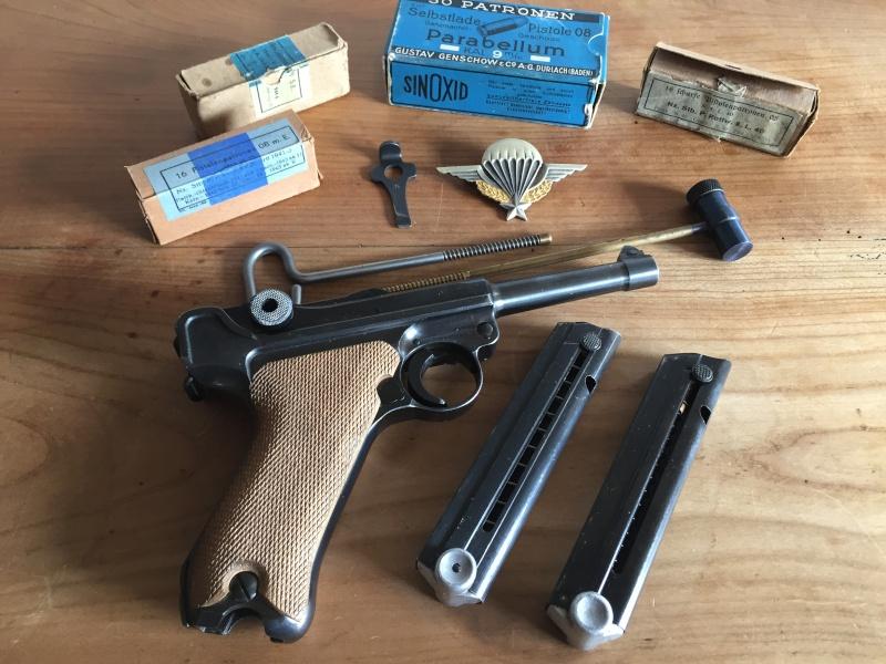 Luger P08 français, accessoires et ses munitions 02511