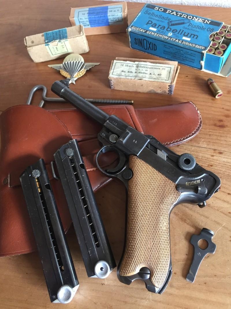 Luger P08 français, accessoires et ses munitions 02811