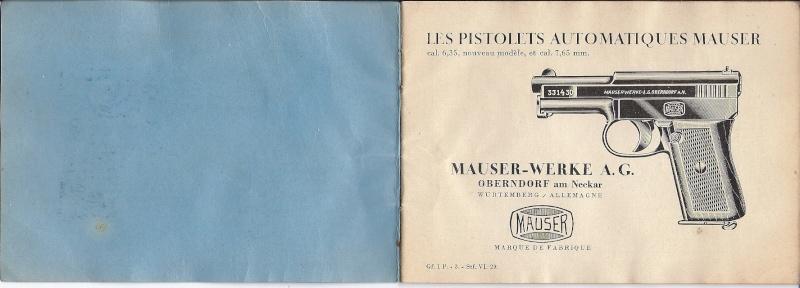 Manuel Mauser 1910 en calibre 7.65 / 6.35 Mauser10