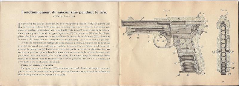Manuel Mauser 1910 en calibre 7.65 / 6.35 Mauser14