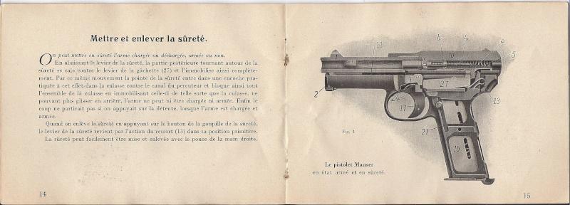 Manuel Mauser 1910 en calibre 7.65 / 6.35 Mauser17