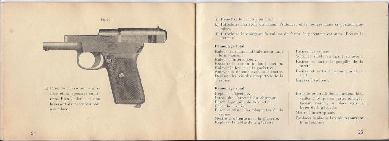 Manuel Mauser 1910 en calibre 7.65 / 6.35 Mauser22