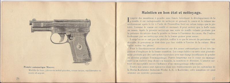 Manuel Mauser 1910 en calibre 7.65 / 6.35 Mauser23