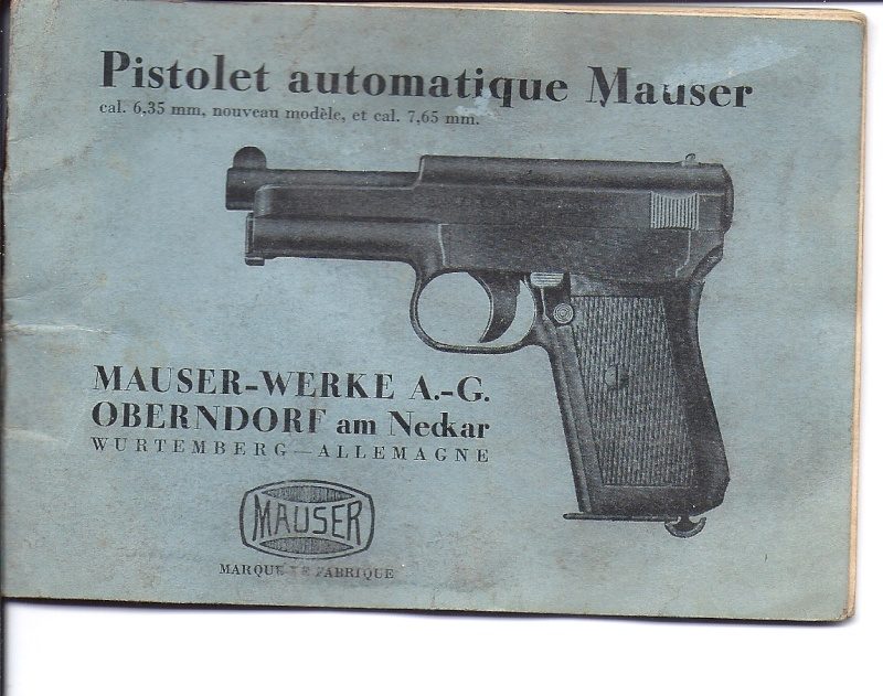 Manuel Mauser 1910 en calibre 7.65 / 6.35 Numyri18