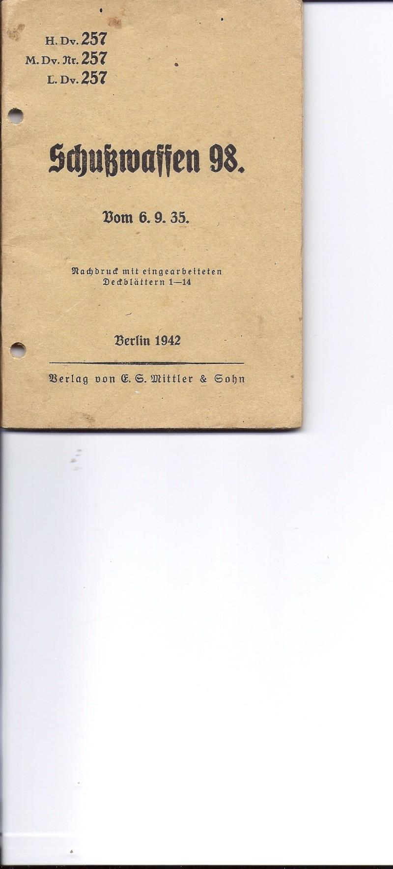 Manuel H. Dv. 257 fusil et carabine 98 Numyri21