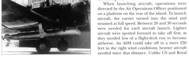 Position des avions sur P.A IJN Captur14