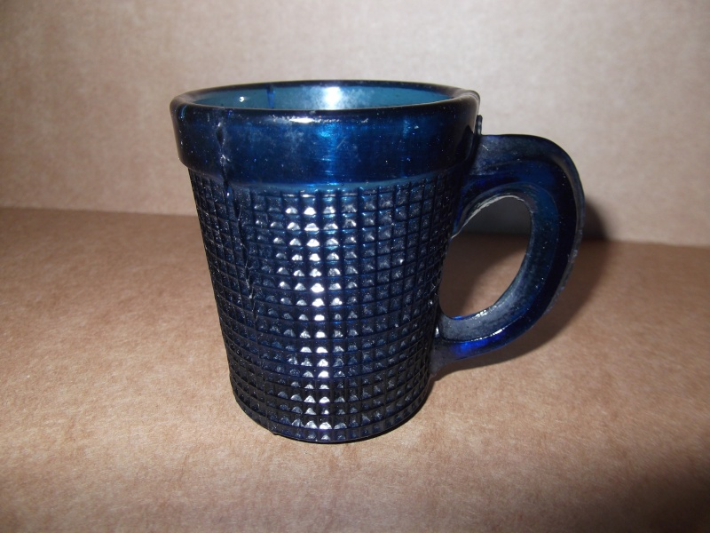 old cobalt blue knurled drinking glass Dscf5510